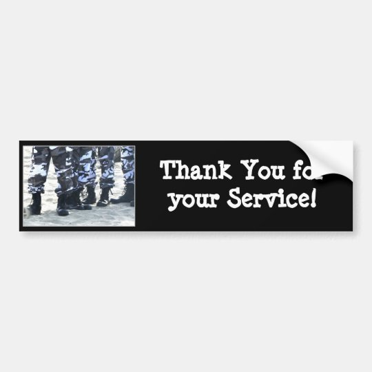 Thank you for your service Military Bumper sticker
