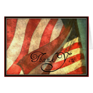 Thank You For Your Service Military Greeting Card