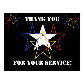 Thank you for your service! postcard
