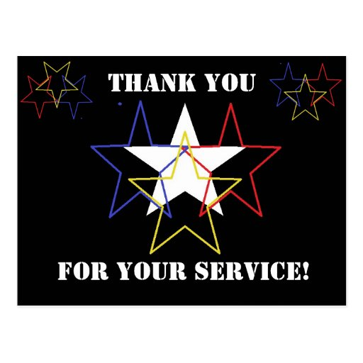 Thank you for your service! post cards
