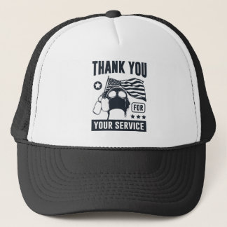 Thank You For Your Service Trucker Hat