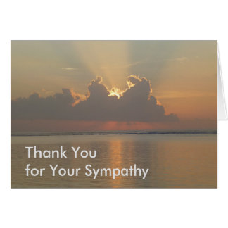 Thank You for Your Sympathy Card - Light at Dawn