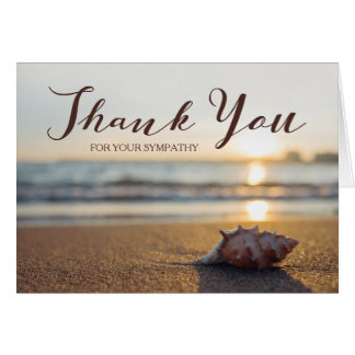Thank You For Your Sympathy | Conch on a Beach Card
