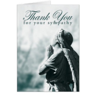 thank you for your sympathy (praying angel) card