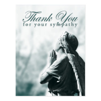 thank you for your sympathy (praying angel) postcard