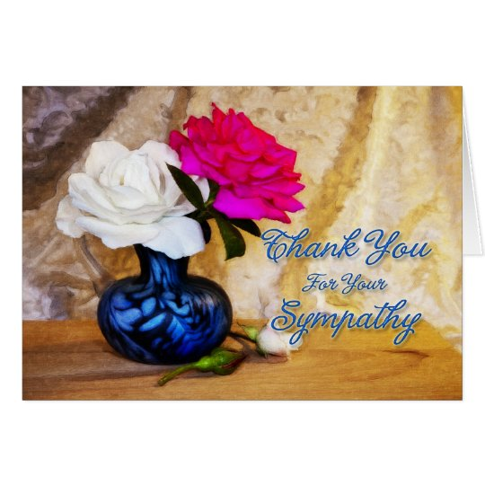 Thank you for your sympathy roses card