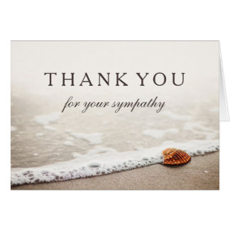 Thank You For Your Sympathy | Seashell on a Beach Card
