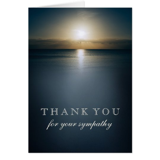 Thank You For Your Sympathy | Sun Over the Ocean Card