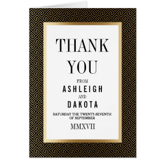 Thank You | Formal Golden Geometric on Black Card