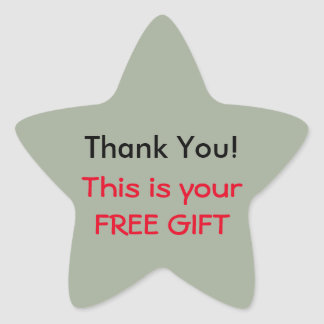 Thank You (Free Gift) Sticker