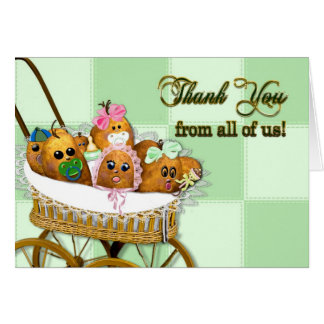 Thank You From All of us! Potato Baby Spuds (Humor Greeting Card