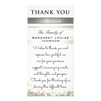 Thank You from Family - Water Glitters Picture Card