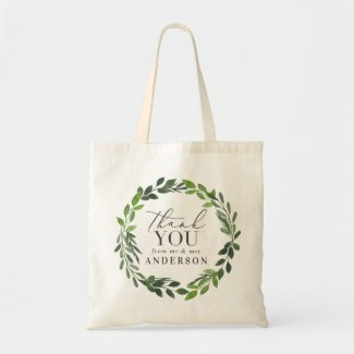 Thank you from mr & mrs wedding favour tote bag