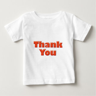 Thank you fun red text greeting t shirts