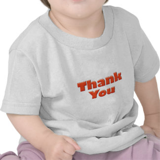 Thank you fun red text greeting t shirt