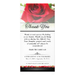 Thank You Funeral Red Rose - Words Cannot Express Custom Photo Card