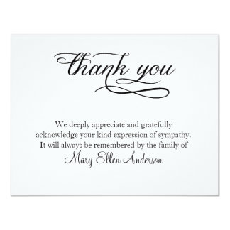 Thank You Funeral Thank You Note Card behreavement