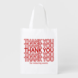 Thank You Funny Grocery Reusable Shopping Bag Reusable Grocery Bag