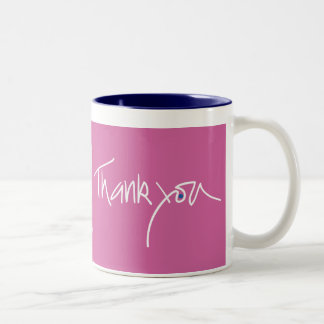 Thank you fuschia color mug