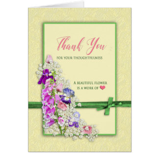 Thank You - Garden Flowers - Note Card