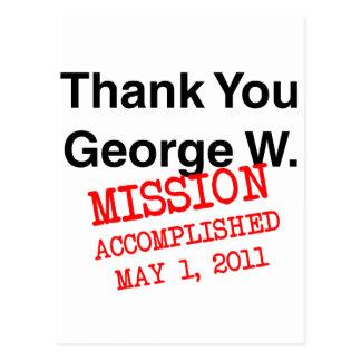 Thank You George W Postcard
