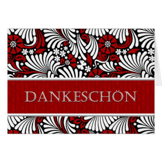 Thank You German Formal Greeting - Red and White Card