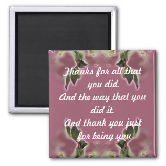 Thank You Gift - Magnet - Vintage Dusty Rose