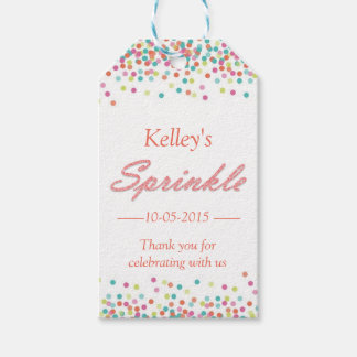 Thank you gift tag for baby sprinkle pack of gift tags