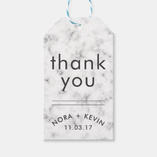 THANK YOU Gift Tags Wedding Favors Marble Pattern Pack Of Gift Tags