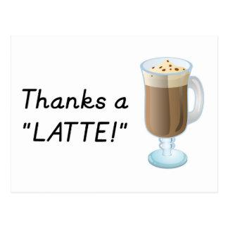Thank you gift - Thanks a latte Postcard