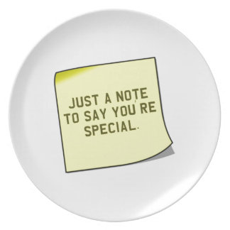 "Thank You Gift - Unique ""note"" quote Dinner Plates"