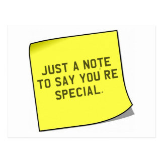 "Thank You Gift - Unique ""note"" quote Postcard"