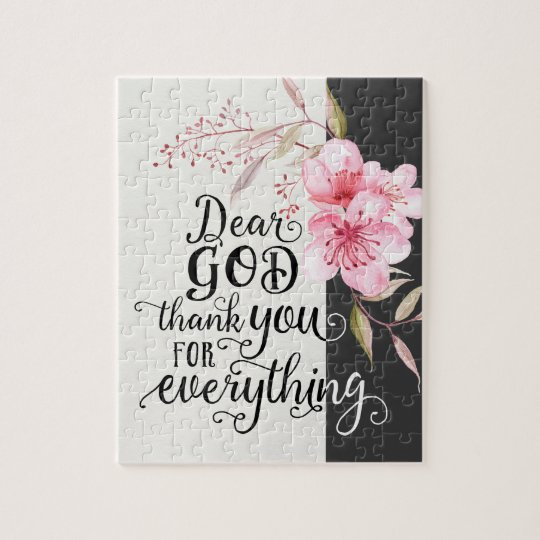 Thank You God 8 x 10 Puzzle with Gift Box