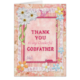 Thank you Godfather, flowers craft card