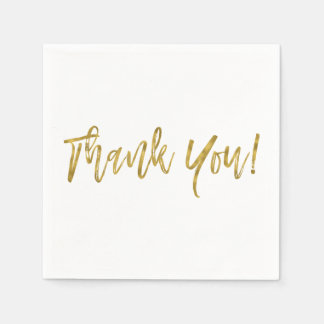 Thank You Gold Foil Napkins Paper Napkins