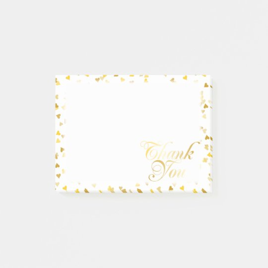 Thank You Gold Hearts Post-it® Notes