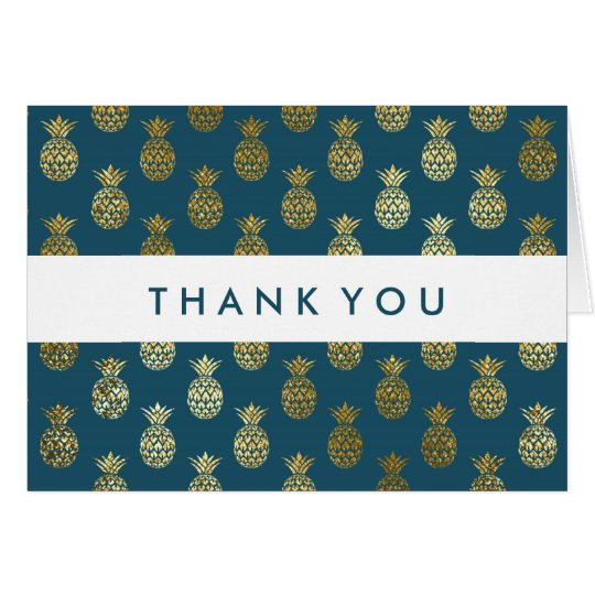 Thank You | Golden Pineapples Card