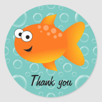 Thank you, Goldfish Classic Round Sticker