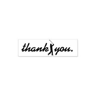 Thank You. Golf Player Rubber Stamp