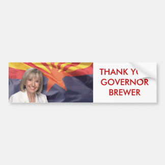 THANK YOU GOVERNOR BREWER BUMPER STICKER