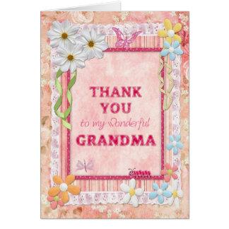 Thank you grandma, flowers craft card