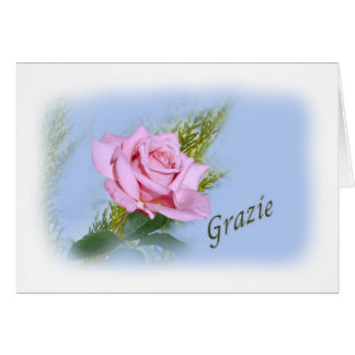 Thank you grazie italian greeting card