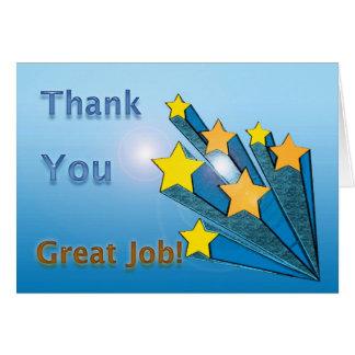 Thank You Great Job Shooting Stars Card