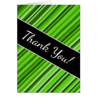 """""""Thank You!"""" + Green Lines/Stripes Pattern Card"""