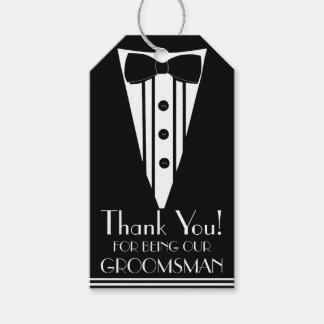 Thank You Groomsman Tuxedo Gift Tags