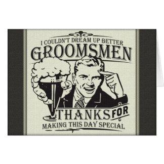 Thank You Groomsmen Card