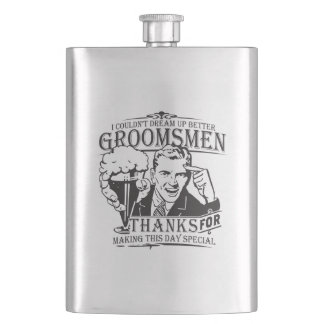 Thank You Groomsmen Flasks