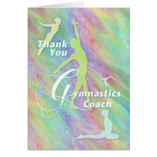Thank You Gymnastics Coach Card