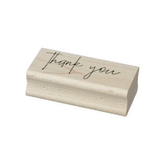 Thank You Handwritten Rubber Stamp