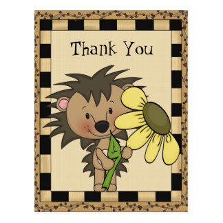 Thank You Hedge Hog Postcard